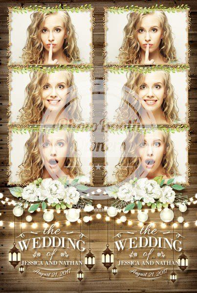 rustic garden lantern   strips photo booth template