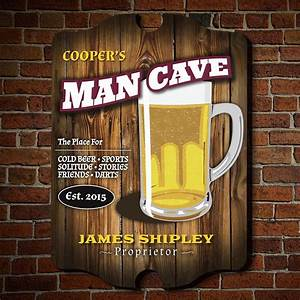 Custom, Welcome, To, The, Man, Cave, Wooden, Sign