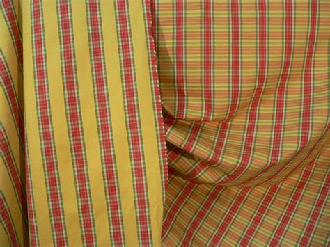 plaid drapery fabric drapery upholstery fabric reversible yarn dyed striped