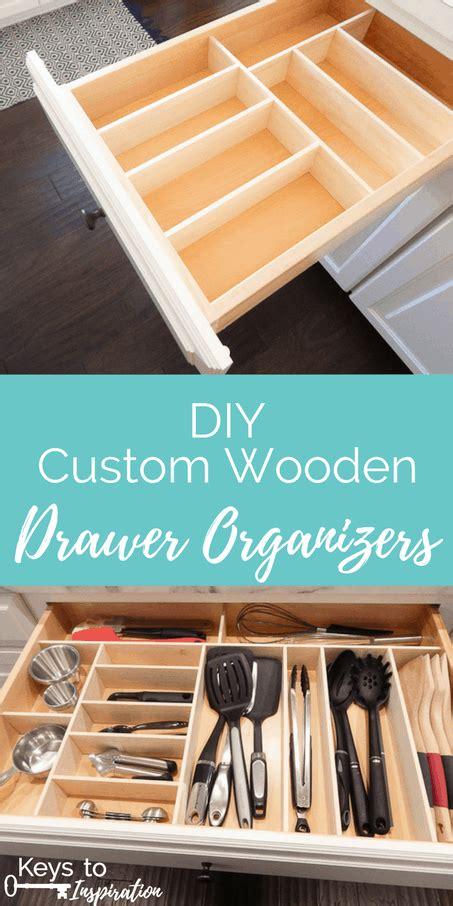 diy custom wooden drawer organizers keys  inspiration