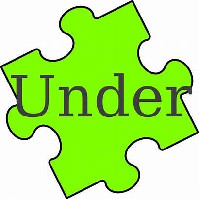Under Clip Puzzle Piece Clipart Clker