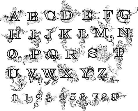 decorative numbers  letters dxfdwgai files cnc world