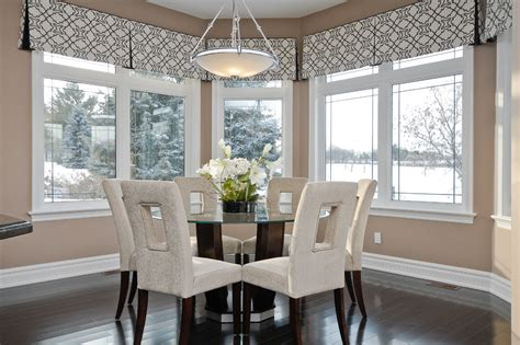 Bay Window Valances Kitchen Contemporary With Bay Window