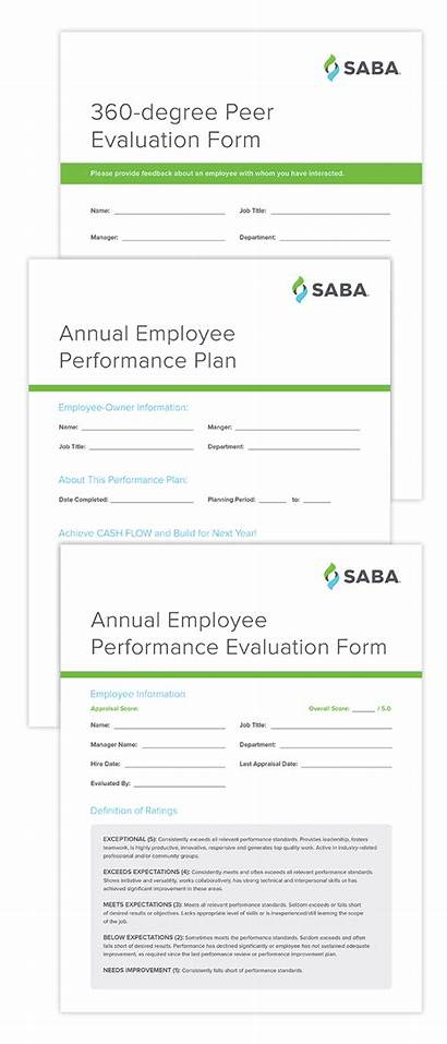 Evaluation Forms Employee Templates Performance Form Appraisal