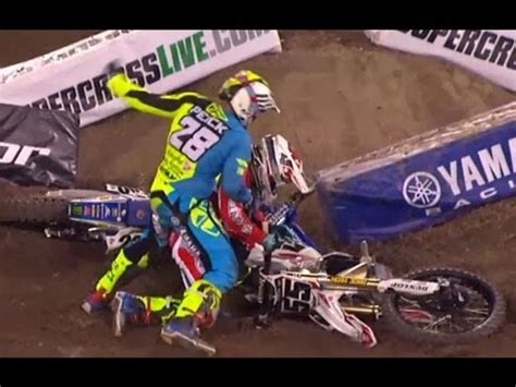 supercross weston peick punches vince friese video