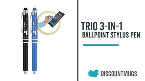 promotional trio ballpoint stylus pens  images