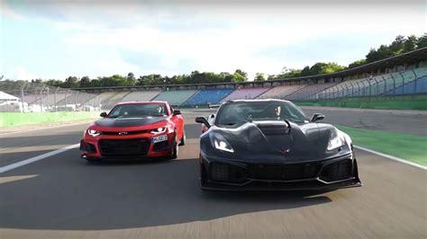 Corvette Zr1 Vs by Chevy Corvette Zr1 Is 3 Seconds Quicker Than Camaro Zl1 Le