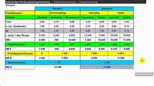 Deckungsbeitrag Rechnung : mehrstufige deckungsbeitragsrechnung teilkostenrechnung ~ Themetempest.com Abrechnung