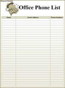 phone list template list templates archives page 3 of 3 templates