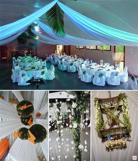 deco plafond mariage idees decoration salle mariage