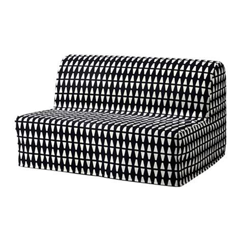 lycksele l 214 v 197 s sofa bed ebbarp black white ikea