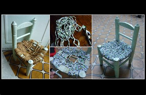 hilo de pl 225 stico reciclado para reparar una silla ecoembes amarillo verde y azul