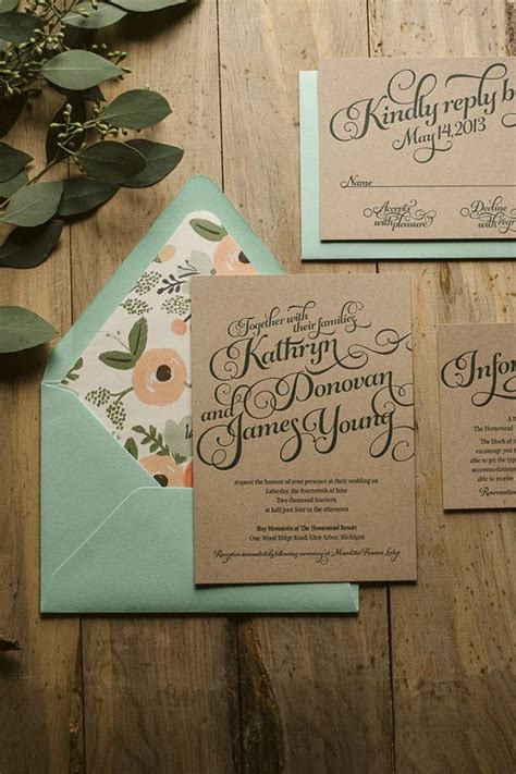 popular rustic wedding invitation idea samples