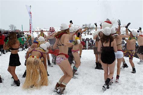 Quebec Winter Carnival Snow Bath
