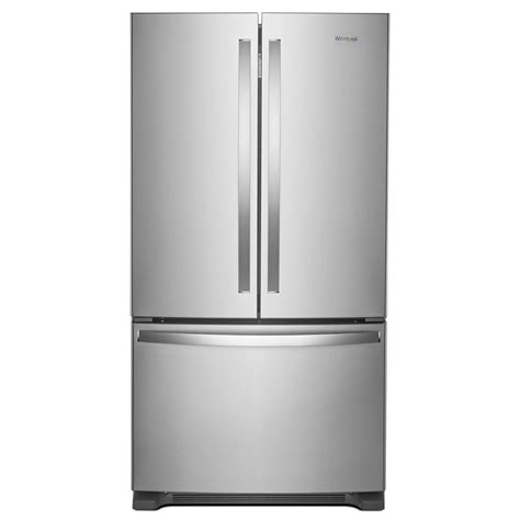 stainless steel door refrigerator whirlpool 36 in w 25 cu ft door refrigerator in