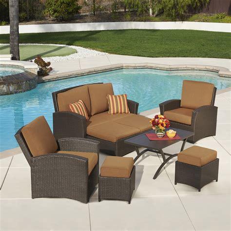 santa fe 6pc seating collection canvas teak