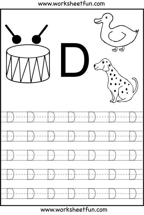 7 best images of a capital letter tracing preschool