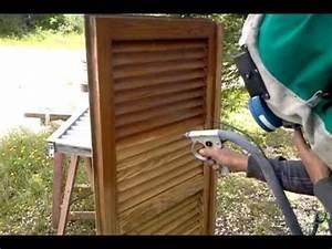 Poids D Une Stère De Bois : d capage d 39 un volet en bois youtube ~ Carolinahurricanesstore.com Idées de Décoration