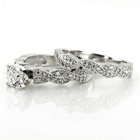 vintage style pave engagement ring band i 25karats com i http weddingwire com wedding