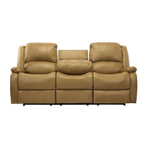 Recliner Sofa With Console by 80 Quot Recliner Sofa W Drop Console Rv Wall