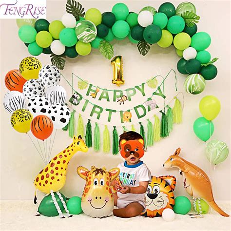 FENGRISE Animal Balloon jungle theme Jungle Party Decor