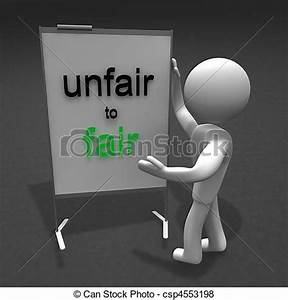Stock Illustration of unfair to fair - figure unfair to ...
