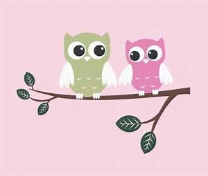 cute owls vinyl wall decal couple on branch childrens With cute owl wall decals for nursery