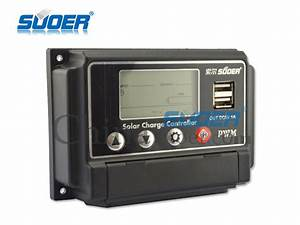 China Suoer 48v 10a Pwm Manual Auto Solar Charge