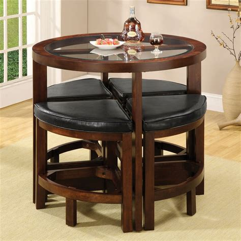 furniture  america crystal cove dark walnut dining set