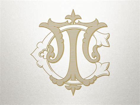 interlocking monogram design ct tc monogram design etsy monogram design monogram initials