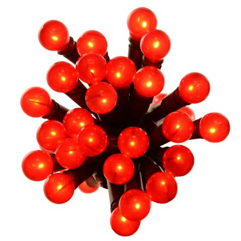 50 red berry lights with green lead wire christmas fairy
