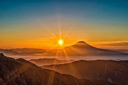 Sun Morning 8k Rising Fuji Mount 4k
