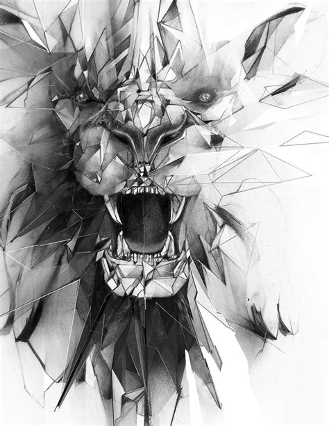 «Stone Lion» Art Print by Alexis Marcou - Numbered Edition from $24.9 | Tattcool | Tattoos