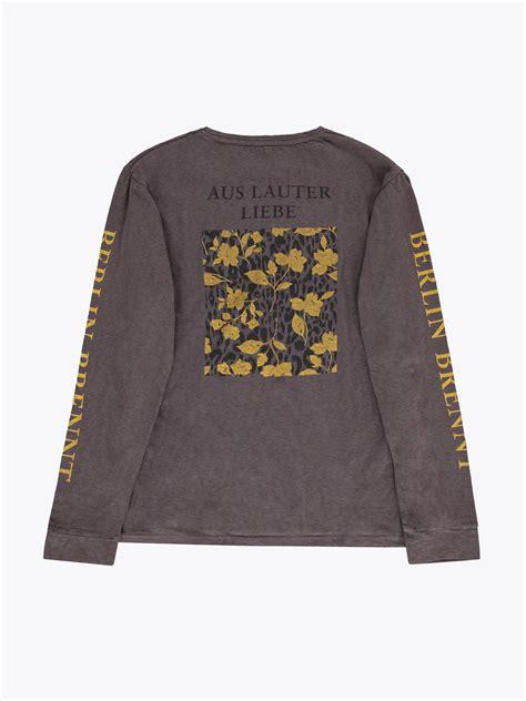 kaos tshirt ls40 robert geller sleeve print ls t shirt garmentory
