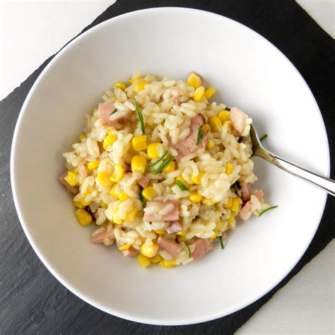ham risotto ham and corn risotto discovery cooking