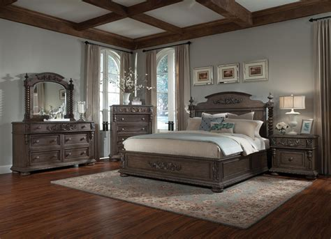 Buy Versailles King Bedroom Set By Classic Mahogany From