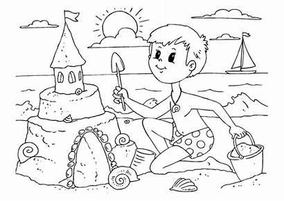 Coloring Sandcastle Build Pages