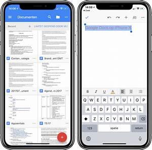 google docs is klaar voor iphone x en ipad drag drop With google documents on iphone
