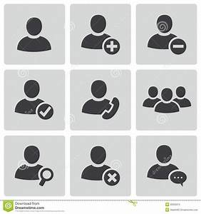 Vector Black People Icons Set Stock Photos - Image: 35255973
