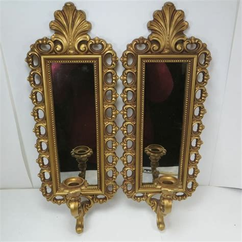 homco home interiors catalog vintage regency mirror wall sconces homco gold