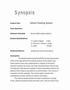 research synopsis template - academic project vehicle tracking g d system synopsis