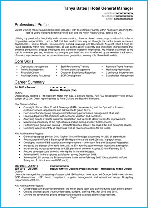 manager cv examples  templates land  top