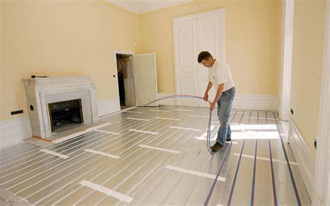 installer un plancher chauffant astuces bricolage