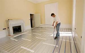 Plancher Chauffant Electrique : installer un plancher chauffant astuces bricolage ~ Melissatoandfro.com Idées de Décoration