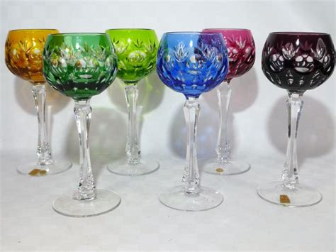 colored wine glasses nachtmann 6 cut colored wine glasses