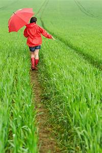 Lonely Girl Walking In The Rain Stock Image - Image: 31423961