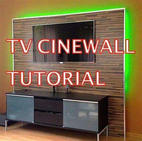 tv wand 55 zoll led tv wand tutorial cinewall