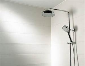 leroy merlin lambris pvc trendy lambris pvc couleur bois With carrelage adhesif salle de bain avec plafond tendu led