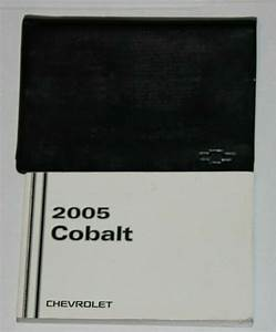 2005 05 Chevrolet Chevy Cobalt Owners Manual By Chevrolet
