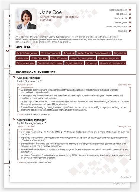 Brief Cv Template by Professional Cv Templates For 2019 Edit Brief